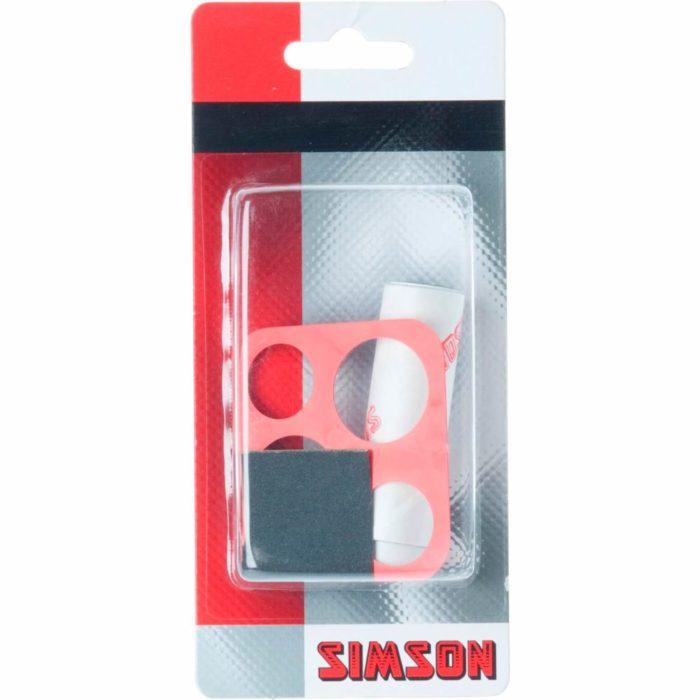 Knip zelf het gewenste formaat plakker uit met de Simson Bandenreparatie rol 7 x 20 cm