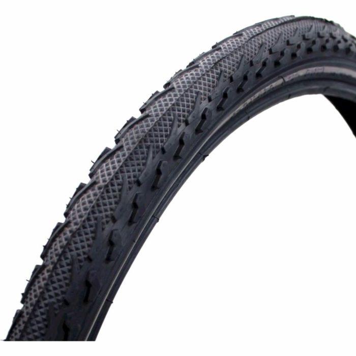 Deli fiets buitenband 22x1.75 reflectie zwart