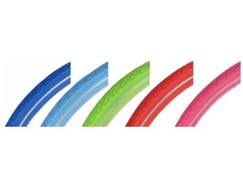 Gekleurde fietsbanden