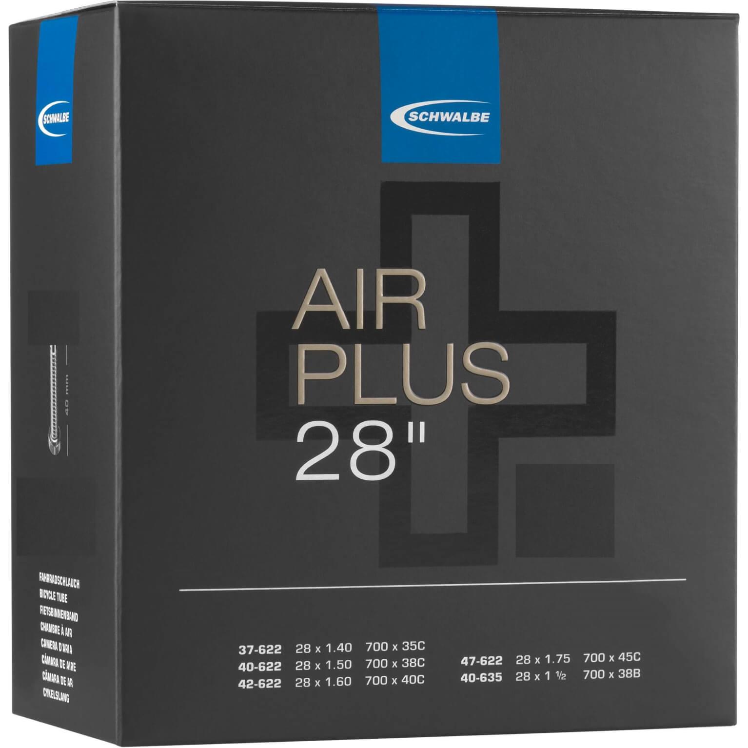 Schwalbe binnenband Air Plus 28 inch 37/47622/635 Dunlop ventiel