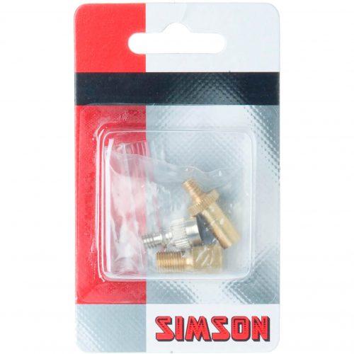 Simson Pompnippel Assortiment voor het oppompen van alle soorten fietsventielen met een gewone fietspomp