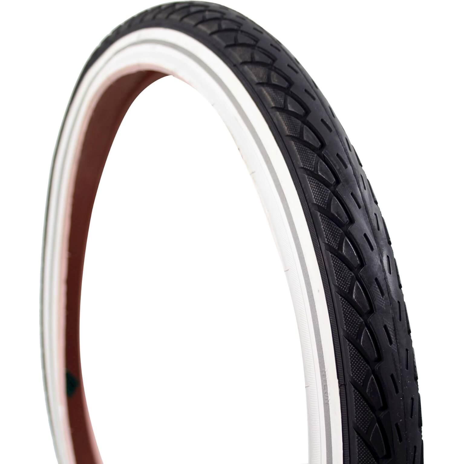 Deli Tire buitenband 20x175 Reflectie zwart/wit